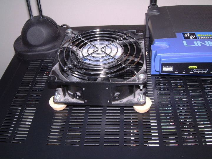 DIY home theater receiver cooling